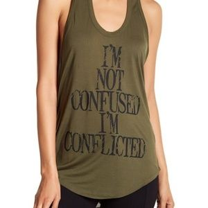 NWT Haute Hippie | Graphic I'm Not Confused Tank